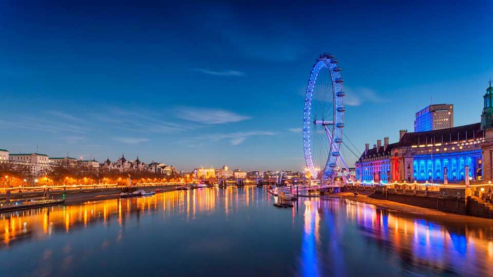 London eye en atardecer