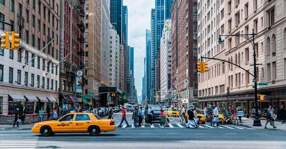 Típica calle de Nueva York