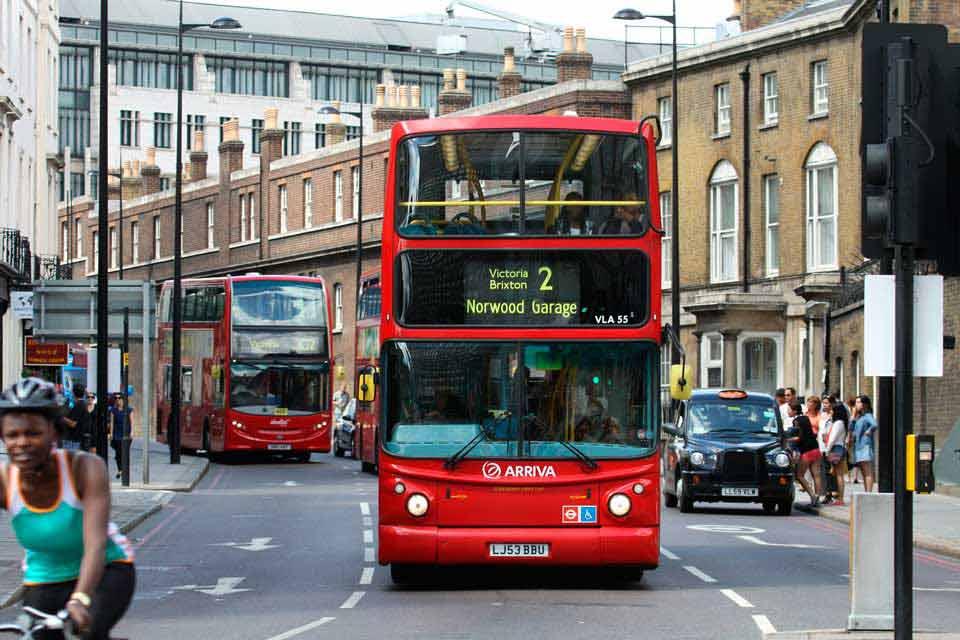 Típica calle de Londres
