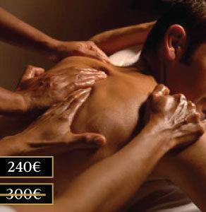 Descuento en nuestra gamma de masajes a cuatro manos Luxor Madrid